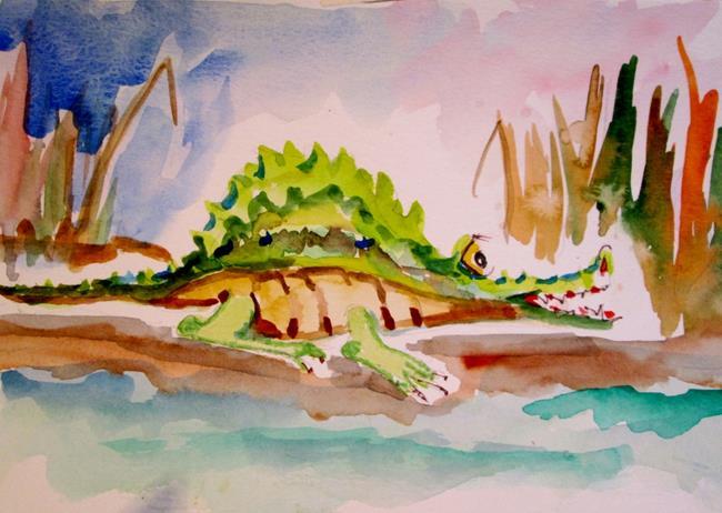 Art: Fat Alligator by Artist Delilah Smith