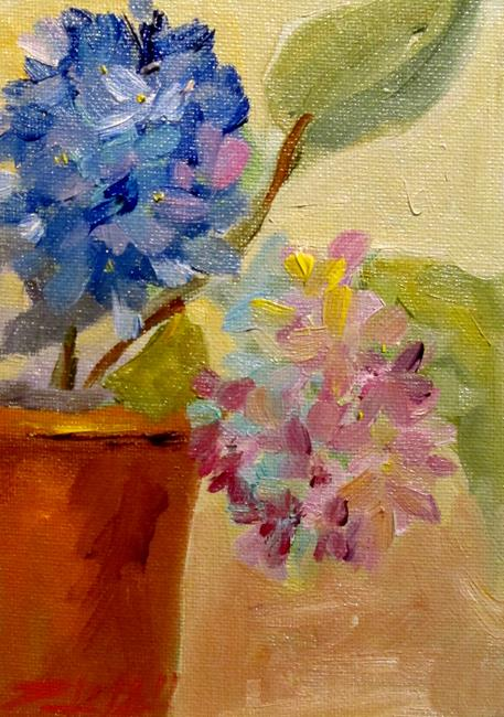 Art: Flowers in a Pot-sold by Artist Delilah Smith