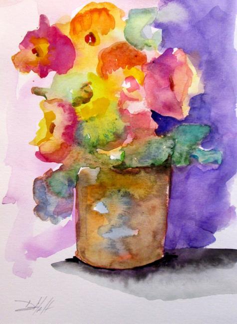 Art: Flowers in a Pot by Artist Delilah Smith