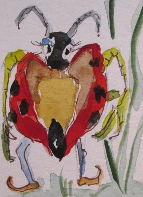 Art: Ladybug Aceo No. 4 by Artist Delilah Smith
