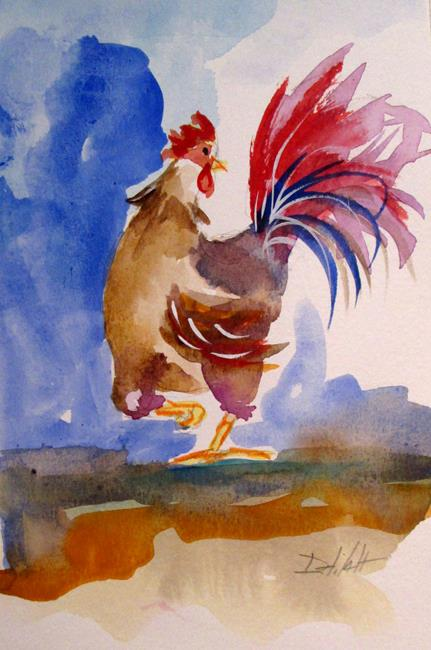 Art: Rooster No. 46 by Artist Delilah Smith