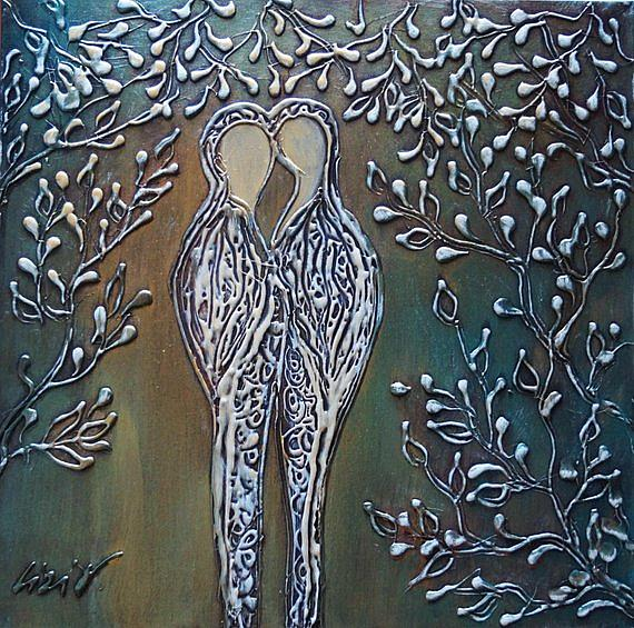 Art: THE KISS.. by Artist LUIZA VIZOLI