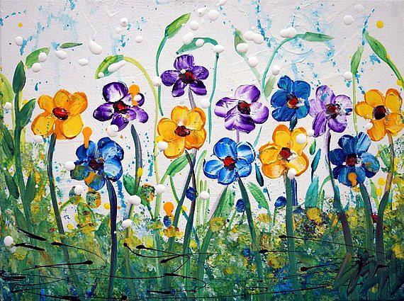 Art: SPRING FLOWERS . by Artist LUIZA VIZOLI