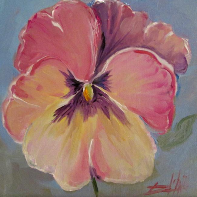 Art: Pink Pansy by Artist Delilah Smith
