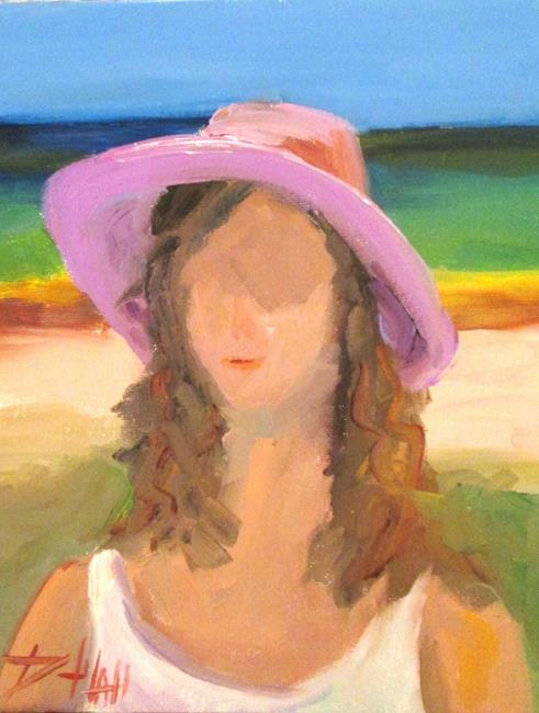 Art: Lady in a Hat No. 6 by Artist Delilah Smith