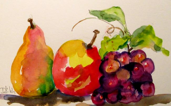 Art: Fruit Still Life watercolor by Artist Delilah Smith