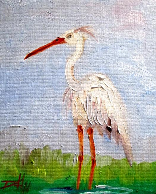 Art: Heron No. 6 by Artist Delilah Smith