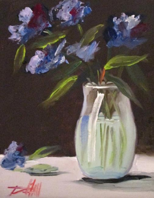 Art: Blue Floral Still Life by Artist Delilah Smith