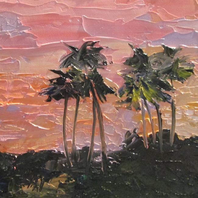 Art: Pink Sunset by Artist Delilah Smith