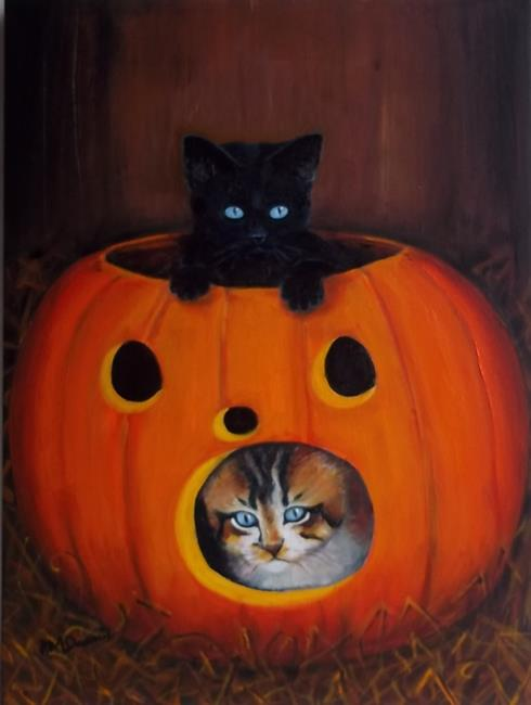 Art: HALLOWEEN CATS by Artist Rosemary Margaret Daunis