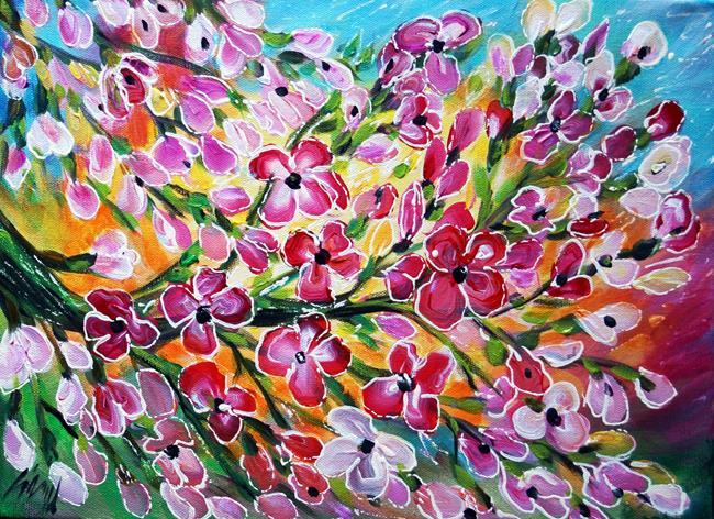 Art: SPRING BLOSSOM by Artist LUIZA VIZOLI