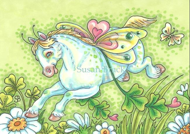 Art: SHAMROCKS AND FAIRY WINGS WhimsyNickers by Artist Susan Brack