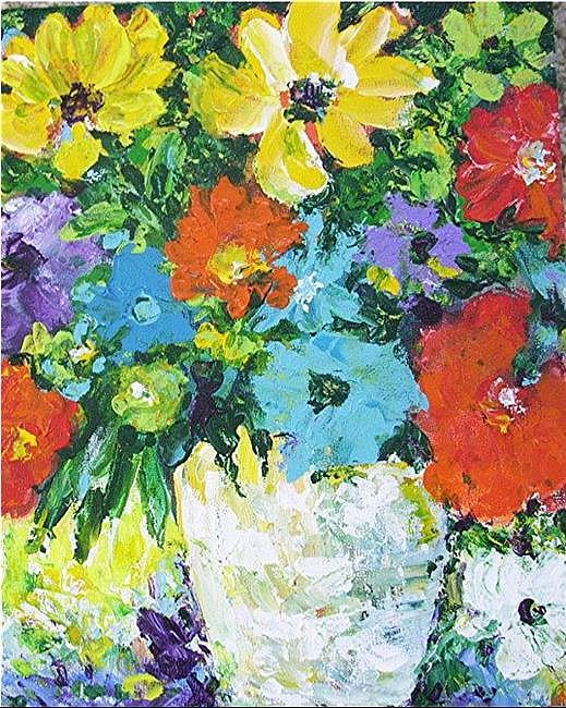 Art: Fresh Bouquet - sold by Artist Ulrike 'Ricky' Martin