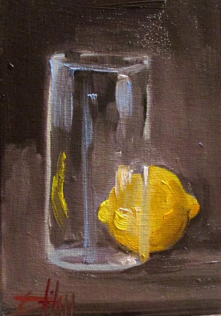 Art: Glass and Lemon by Artist Delilah Smith