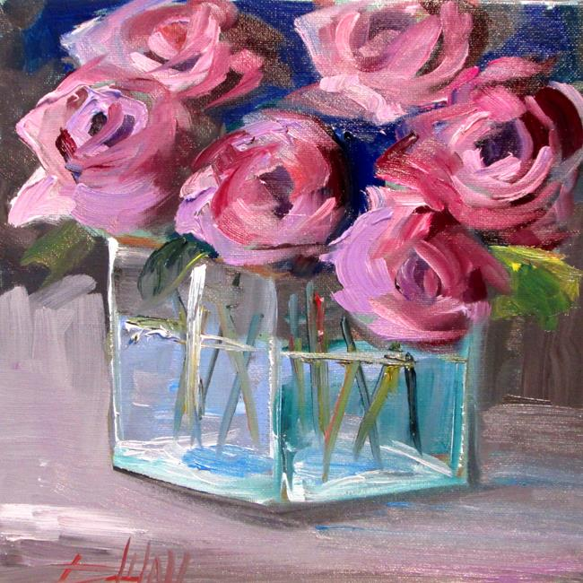 Art: Roses No. 3-sold by Artist Delilah Smith