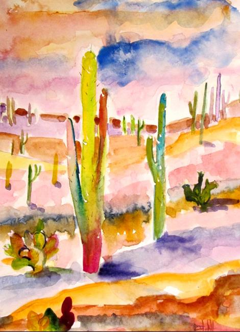 Art: Saguaro Cactus by Artist Delilah Smith