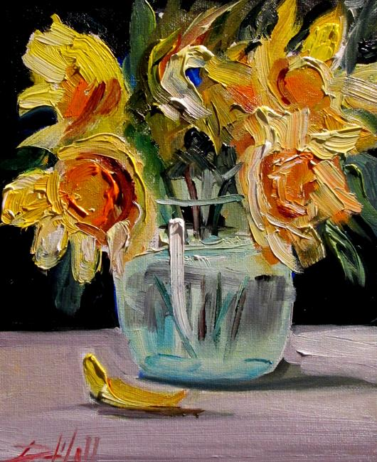Art: Daffodils in a Vase by Artist Delilah Smith
