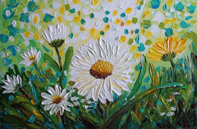 Art: CHAMOMILE FLOWERS by Artist LUIZA VIZOLI