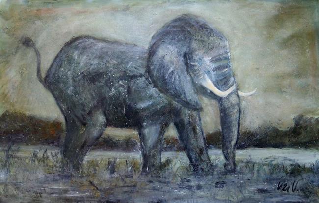 Art: Elephant by Artist LUIZA VIZOLI