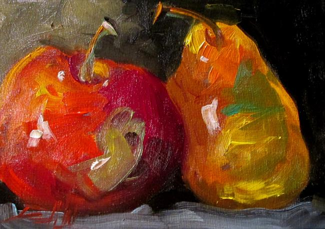 Art: Apple and Pear No. 3 by Artist Delilah Smith