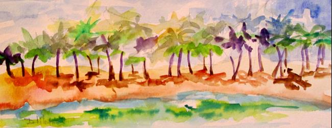 Art: Tropical Beach-sold by Artist Delilah Smith