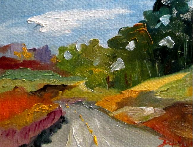 Art: Distant Road by Artist Delilah Smith