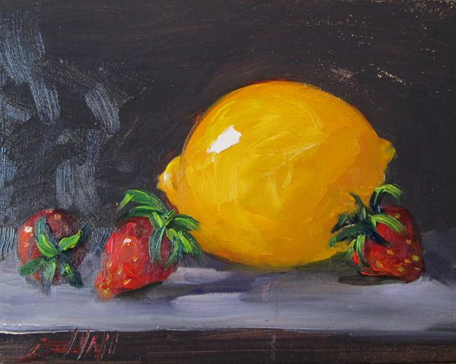 Art: Lemon and Strawberries by Artist Delilah Smith