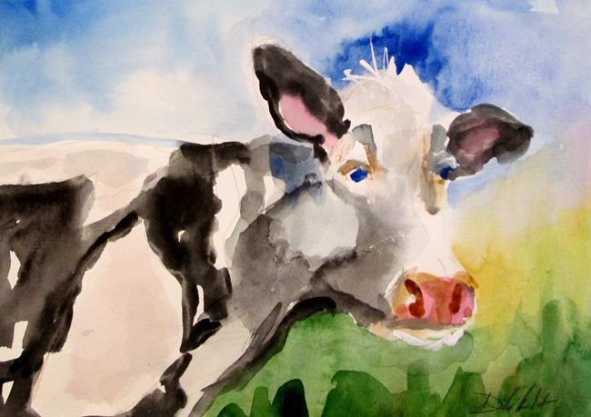 Art: Holstein Cow by Artist Delilah Smith