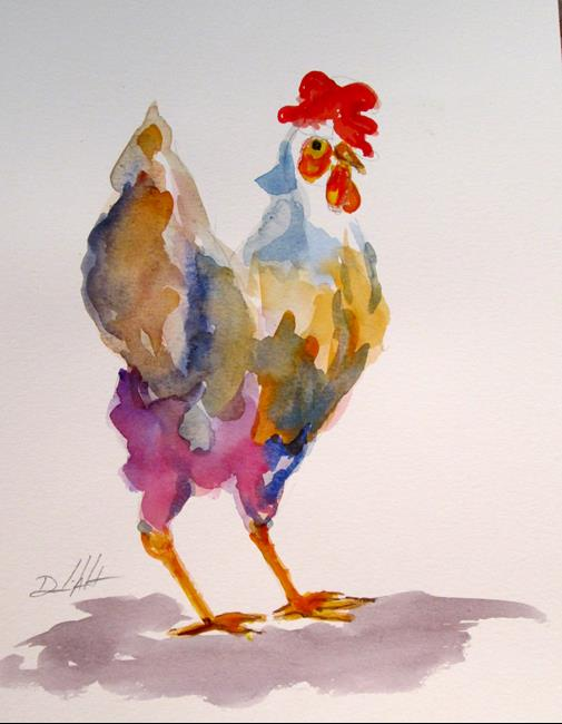 Art: Rooster No. 49 by Artist Delilah Smith