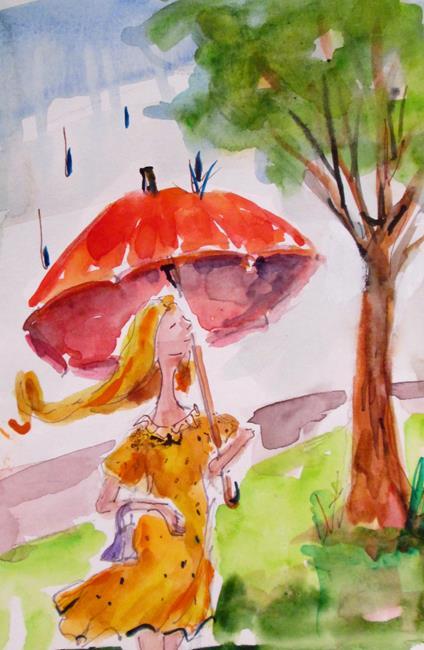 Art: Spring Rain by Artist Delilah Smith