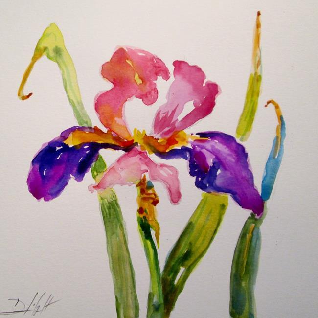 Art: Spring Iris by Artist Delilah Smith