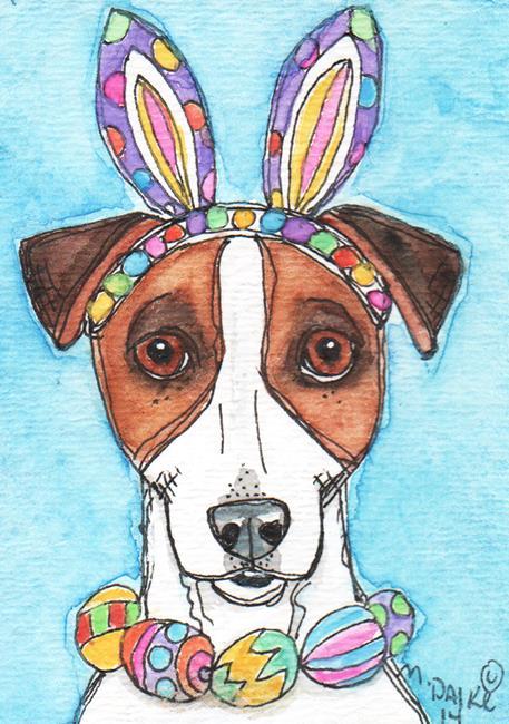 Art: Easter Jack Rabbit by Artist Melinda Dalke