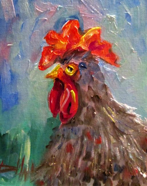 Art: Rooster No. 50 by Artist Delilah Smith