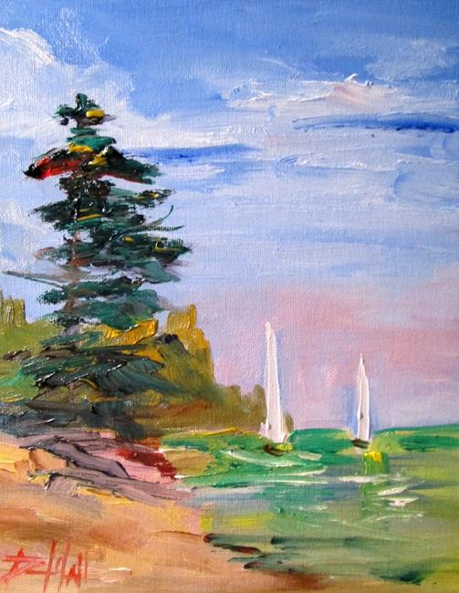 Art: Two Sails by Artist Delilah Smith