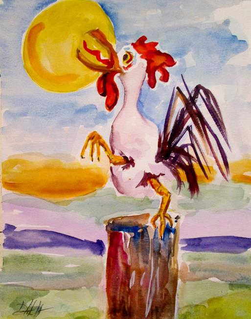Art: Wake Up Rooster No. 3 by Artist Delilah Smith