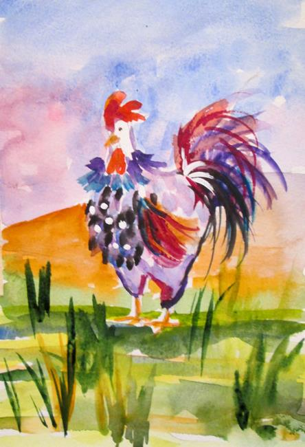 Art: Fat Rooster No. 3 by Artist Delilah Smith