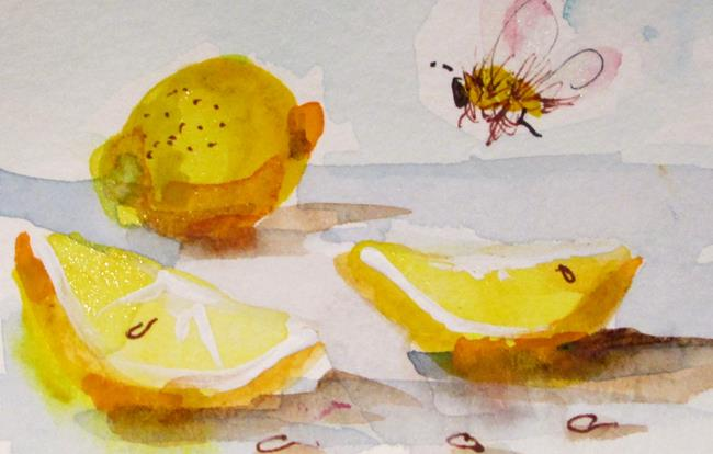 Art: Lemons and Bees by Artist Delilah Smith
