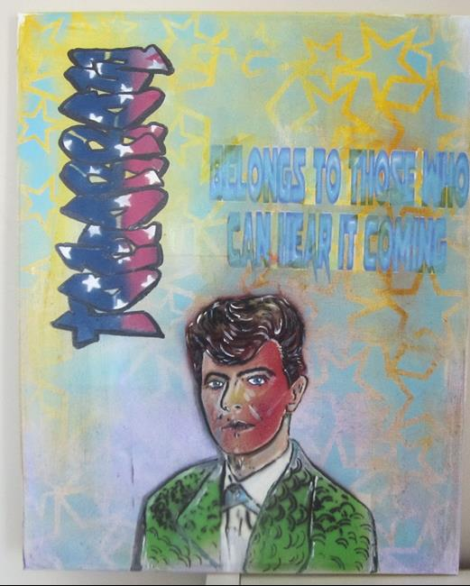 Art: David Bowie Tomorrow Graffiti Pop Art by Artist Paul Lake, Lucky Studios