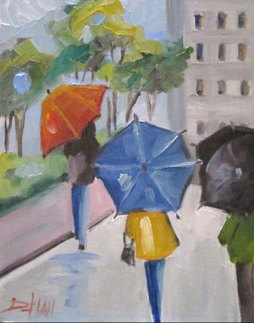 Art: Umbrellas by Artist Delilah Smith