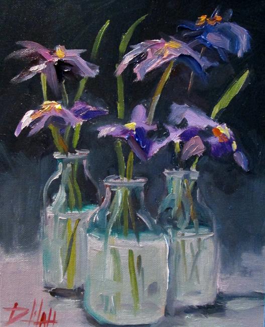 Art: Purple Flowers Still Life by Artist Delilah Smith