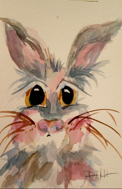 Art: Gray Bunny by Artist Delilah Smith