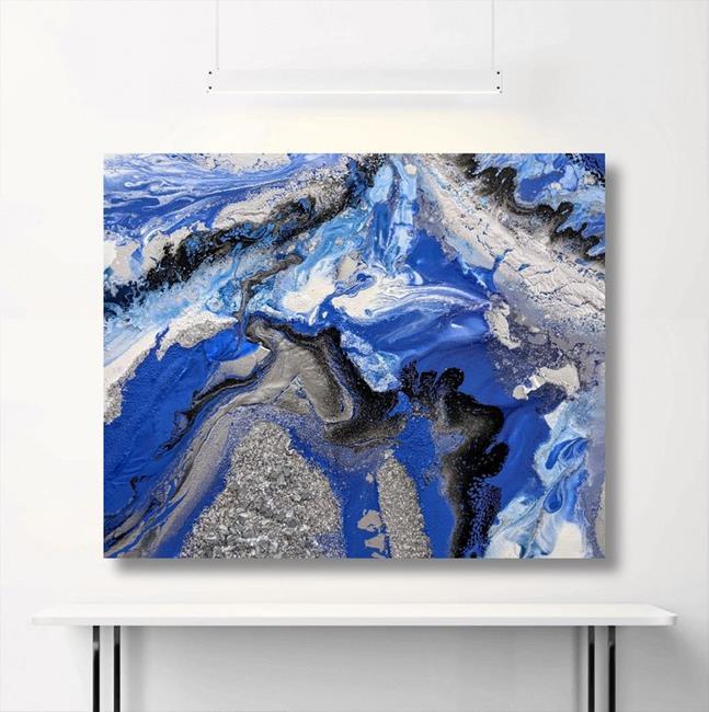 Art: Vivid Geode (sold) by Artist Amber Elizabeth Lamoreaux