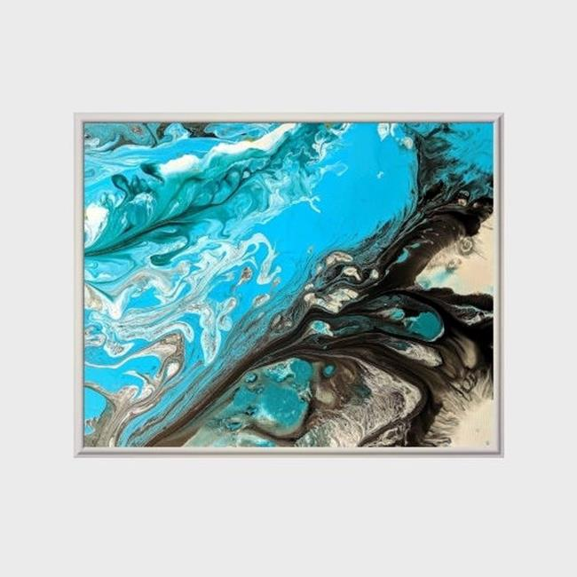 Art: Ocean Granite (sold) by Artist Amber Elizabeth Lamoreaux