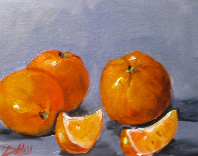 Art: Orange Still Life No 6 by Artist Delilah Smith