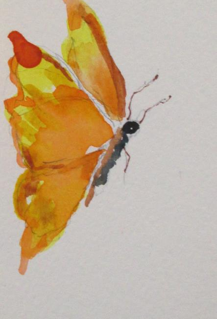 Art: Yellow Butterfly by Artist Delilah Smith