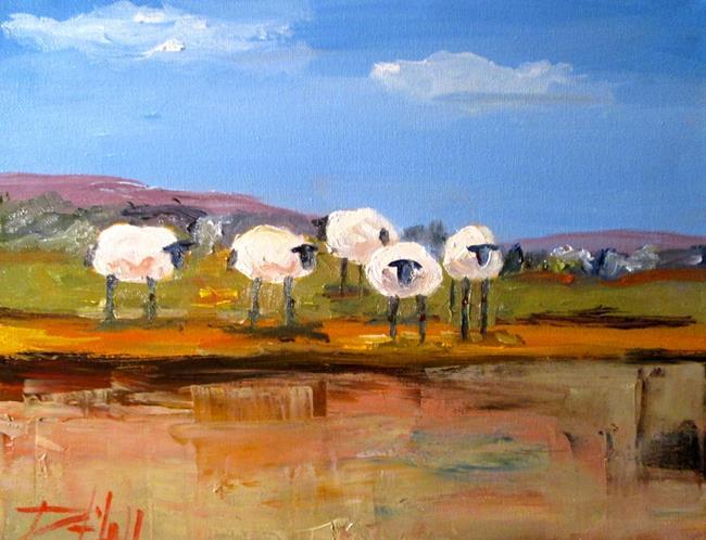Art: Irish Sheep by Artist Delilah Smith