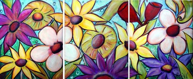 Art: Exotic Flowers by Artist LUIZA VIZOLI