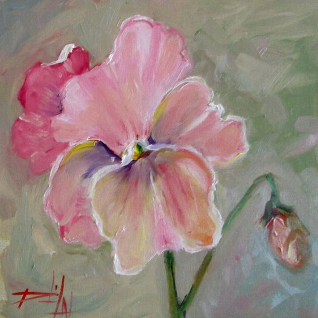 Art: Pink Pansy-sold by Artist Delilah Smith