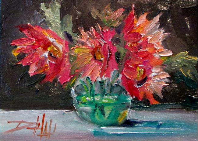 Art: Pink Floral Still Life by Artist Delilah Smith