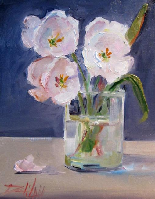 Art: White Tulips-sold by Artist Delilah Smith
